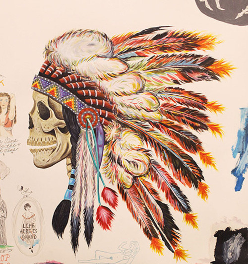 art-headdress-indian-native-american-painting-skull-Favim.com-86289
