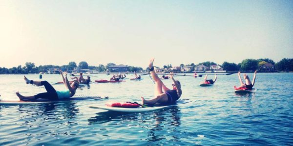 Paddle Board Fitness and Yoga Class Lakeshore Windsor