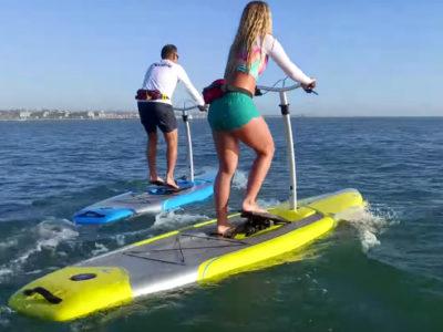 urban surf pedal board hobie mirage eclipse rental