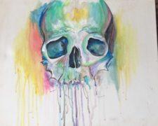 Paddle & Paint Skull